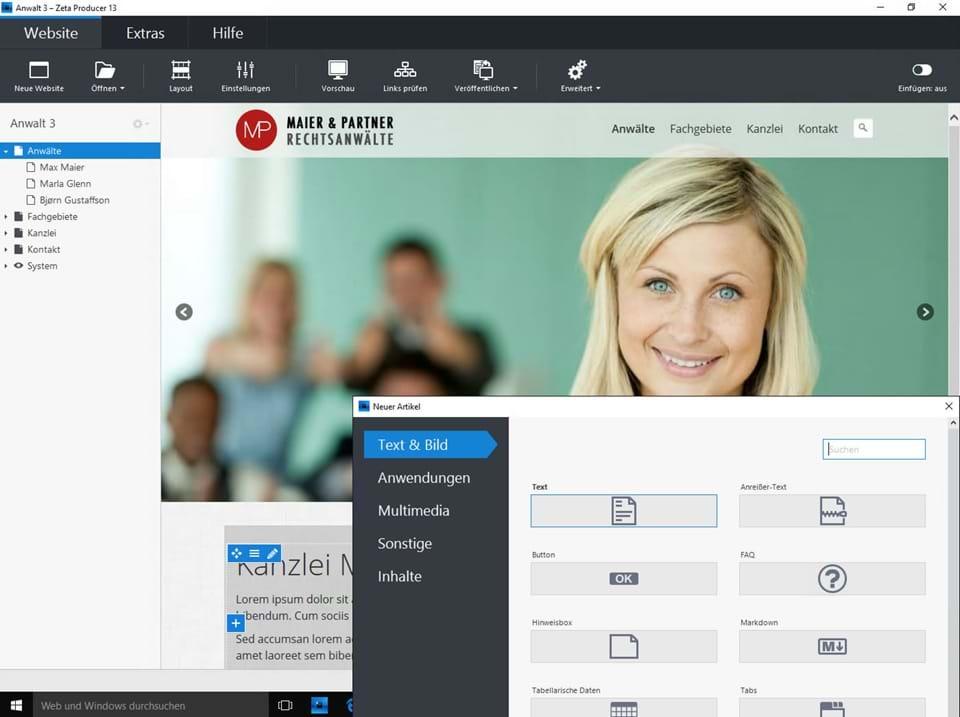 Garage Software Vergelijken : Kostenlose website erstellen: optimal für einsteiger zeta producer
